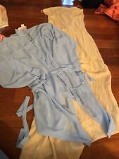 Victoria Secret Long Sheer Offwhite Nightgown Medium And Blue Robe One Size Fits