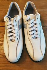 Callaway Golf Shoes Women's/Ladies Size US 7.0 White with blue and beige trim.