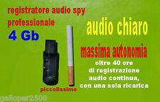 REGISTRATORE 8GB AUDIO SPY PROFESSIONALE SPIA VOCALE DIGITALE AUTONOMIA 40 ORE
