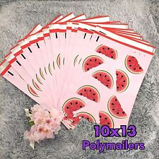 30 Designer Printed Poly Mailers 10X13 Shipping Envelopes Bags WATERMELON