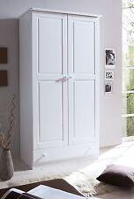 Armoire commode dressing MORITZ 2 portes Pin teinté blanc