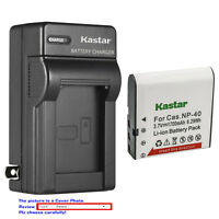 Kastar Battery Wall Charger for Casio NP-40 & Casio Exilim Pro EX-P505 Camera
