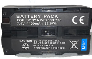 Replacement Battery for Sony NP-F750 NP-F770