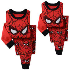 2PCS Kids Baby Boy Girl T-shirt Top+Pants Pajamas Set Sleepwear Outfit Clothing
