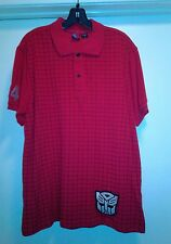 New Men Transformers Autobots Polo Shirt Red L
