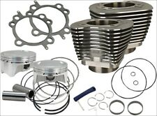 """S&S Cycle 107"""" CI Big Bore Cylinder Kit Black 10.5:1 Compression 07-16 Harley"""
