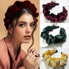 Fashion Solid Color Bubble Headband Pleated Hairband Hair Accessories for Women