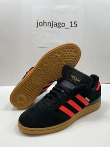 Adidas Originals Mens Size 12 US Busenitz Skateboarding Shoes Black Red EG2478
