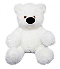 "30"" White Teddy Bear Plush Toy Soft Cozy Snugly"