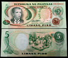 Philippines 5 Piso 1980 Banknote World Paper Money UNC Currency Bill Note