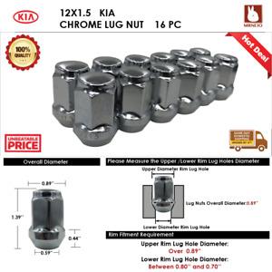 16PC KIA  RIO/SEPHIA/SPECTRA   12X1.5 CHROME ACORN WHEEL LUG NUTS