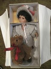 "Gorgeous Linda Steele Limited Edition 16"" Jodie Doll Holding her Teddy Bear"