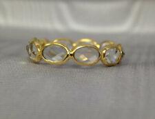 18K Yellow Gold Energizing Rose Quartz Eternity Ring Band Size 6.25