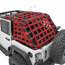 07-17 Jeep Wrangler JK Off Road 4 Door RED Cargo Net System Restraint Net 4x4