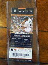 Jose Ramirez Nick Castellanos MLB DEBUT Ticket Stub Detroit Tigers 9/1/13