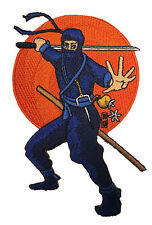 Ninja Japanese Stance to Fight Iron On Patch Applique Vest Jacket Shirt New