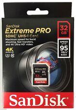 Originale Sandisk Extreme Pro SD SDHC 32GB 95MB/s Scheda Di Memoria 32GB