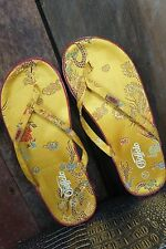 Buffalo London * Zehentrenner Sandalen * China Look * Asia * Goldgeld * Gr 40/41