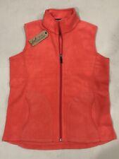 Woolrich Women Fleece Vest Full Zip Pink Size S/P