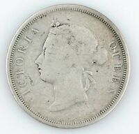 1894 Straits Settlements 50 Cents (Good, G) Silver 50c Fifty KM-13
