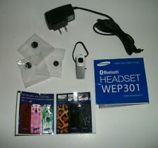 Samsung Wep301 Bluetooth Headset W/ Accessories