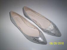 Esprit Ballerinas Schuhe Halbschuhe Loafer in silber, Gr. 40