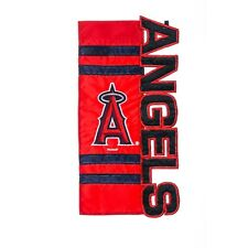 "Los Angeles Angels 7.5"" x 18"" Applique, Embroidered and Sculpted Garden Flag"
