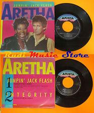 LP 45 7'ARETHA FRANKLIN Jumpin'jack flash Integrity 1986 italy ARISTA cd mc dvd