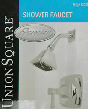 Lot of 3 Premier Union Square Shower Faucet with Cast Brass Valve, Chrome, NEW