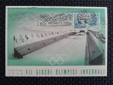 ITALIEN MK 1956 OLYMPIA WINTER OLYMPICS MAXIMUMKARTE CARTE MAXIMUM CARD MC c1717