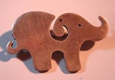 Elephant Jewelry Mexican Brooch Pin Sterling Silver Taxco Mexico Vintage 00225