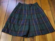 """LORD AND TAYLOR Tartan Plaid WOOL A-line SHORTS 28"""" Wst"""