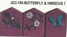 Butterfly Hibiscus Stained Glass Pattern Garden Stone Borders NEW!