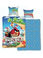 Angry Birds 'Cliffhanger' Reversible Panel Single Bed Duvet Quilt Cover Set New