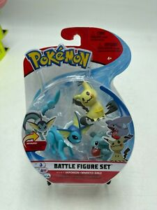 Pokemon Battle Figure Set Vaporeon Mimikyu Gible 3 Action Pack NIB