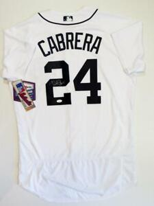 Miguel Cabrera Autographed Detroit Tigers Majestic White Jersey - JSA W Auth *2