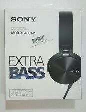 Sony MDR-XB450AP Extra Bass Smartphone Headset Stereo Headphones - Black