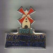 RARE PINS PIN'S .. TOURISME MOULIN A VENT MILL IMPRIMERIE FEYSIN 69 BIG 3D ~CZ