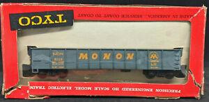 Tyco MANTUA: MONON MON #3029 Gondola, blue. DIE-CAST BASE. VINTAGE HO, rare
