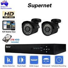 SUPERNET 4CH DVR Outdoor CCTV Video Security System 720p 1400TVL Camera 1TB Kit