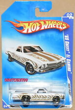 HOT WHEELS 2009 HEAT FLEET '68 CHEVY EL CAMINO WHITE