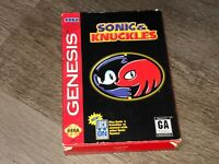 Sonic & Knuckles Sega Genesis Complete CIB Authentic