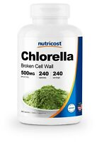 Nutricost Chlorella Capsules 500mg, 240 Veggie Capsules - Non-GMO & Gluten Free