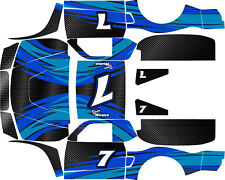 Losi 5ive T BLACK CARBON FIBER WITH SWIPE wrap decals stickers BIG FLEX ROVAN
