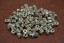 200 PCS CARVED STRIPE OFF WHITE ROUND BUFFALO BONE BEADS 6MM #T-97