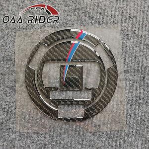 3D Carbon Fiber Gas Fuel Cap Tank Cover Sticker Decal For S1000RR HP4 2009-2015