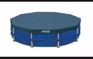 INTEX 28030 ROUND FRAME 10FT 305cm SWIMMING POOL SHEET STEEL COVER TARPAULIN