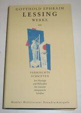 Gotthold Ephraim Lessing Werke Band III  - Winkler Dünndruck