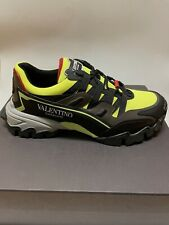 Valentino Garavani Men's Climbers Black/Yellow Trainers Size 10.5 US / 43.5 EU