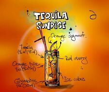 TEQUILA SUNRISE  MOUSE PAD  IMAGE FABRIC TOP RUBBER BACKED